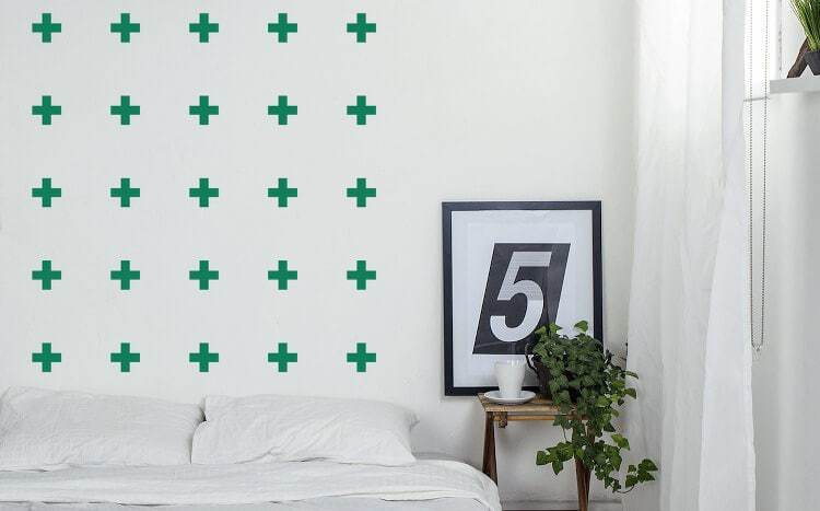 Removable Crosses Wall Decal from Vinyl Design