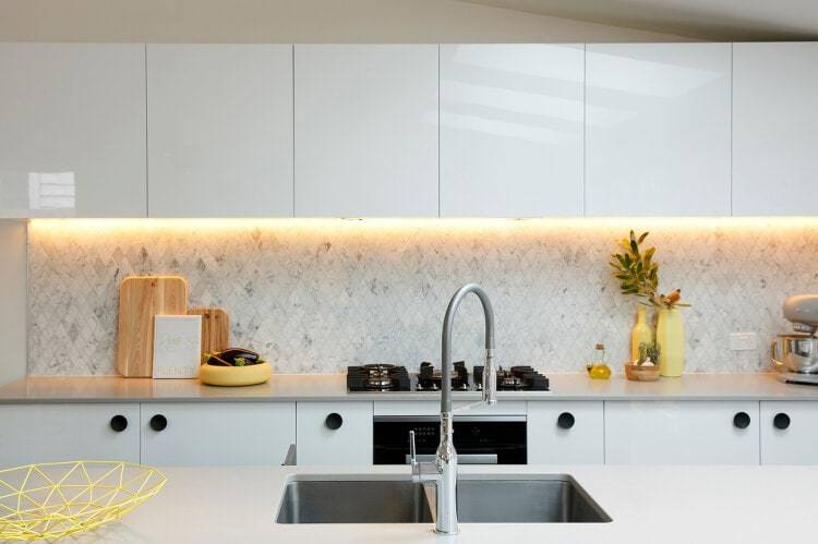 Reno Rumble Kitchen - Marble Splashback in Kitchen