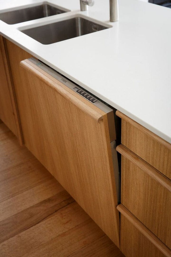 Reno Rumble Kitchen Reveals - Freedom Kitchens - Hidden Dishwasher - Intesgrated Dishwasher