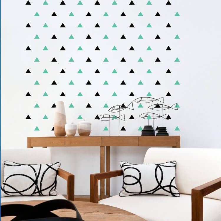 Triangle Wall Decal from Vinyl Designs