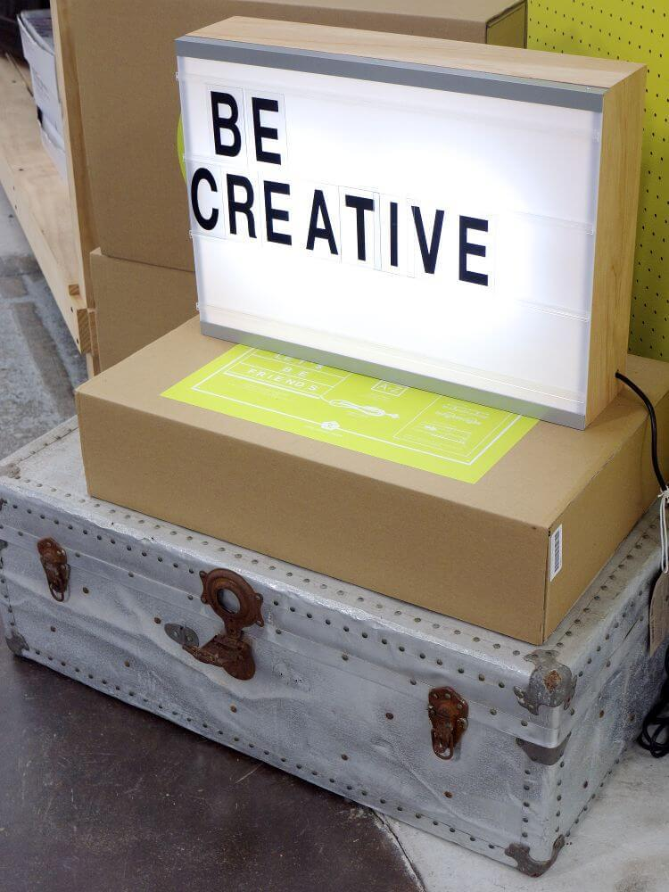 Be Creative Lightbox Quote from Koskela