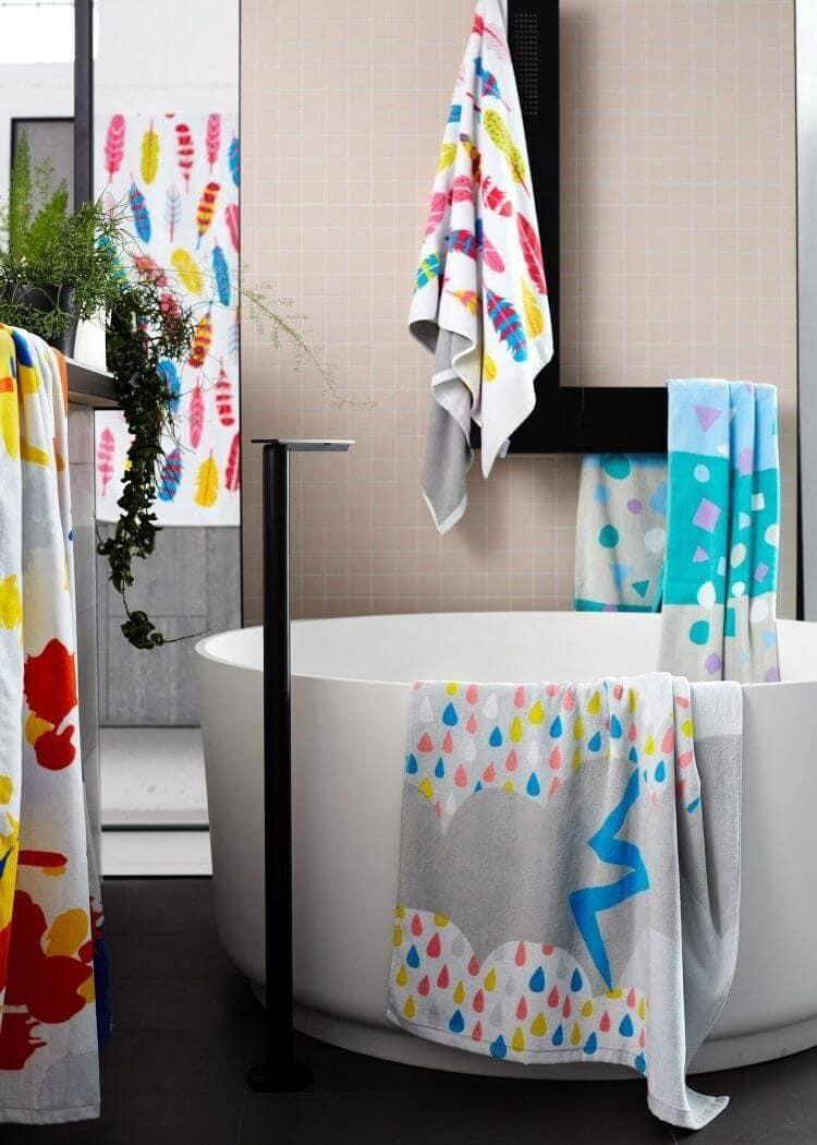 Cosi Kids Bath Towel - Tickle Me Pink Design
