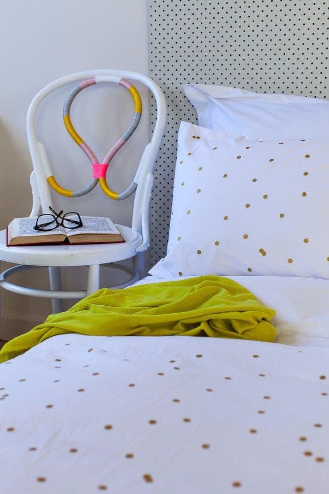 Feliz Home Gold Polka Dot Bedding