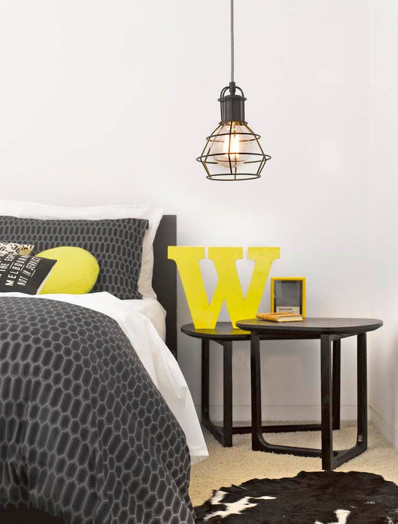 Grey and Yellow Bedroom Colour Scheme
