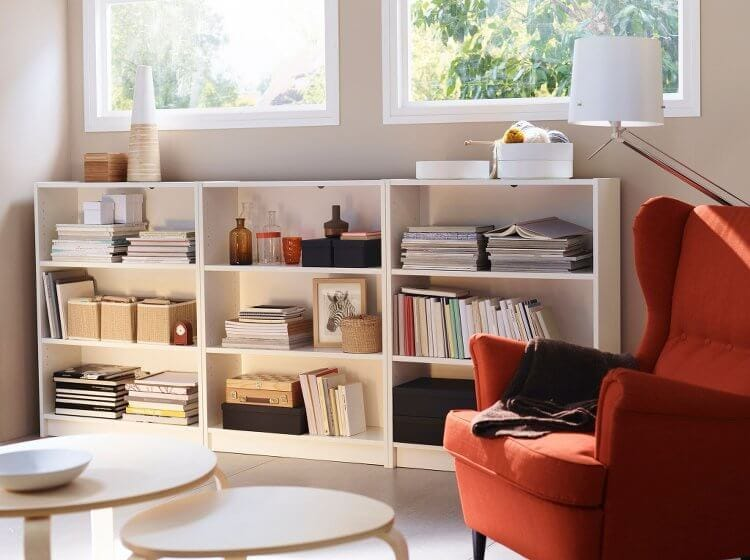 IKEA Billy Bookcase and Armchair