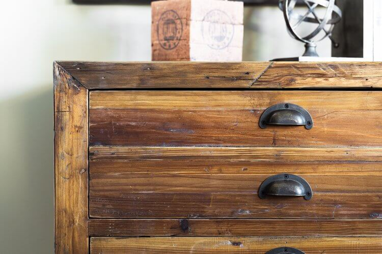 Rustic Wooden Chest of Drawers - Metricon's Provincial Trader Trend