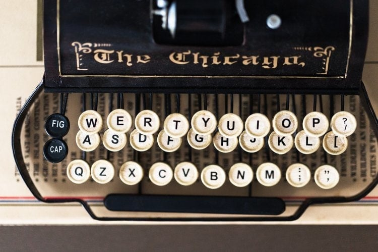 Vintage Typewriter - Provincial trader Trend from Metricon Homes