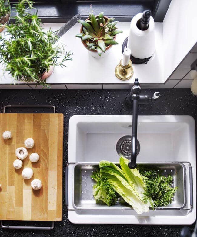 2016 ikea catalogue - kitchen sink with vegetables
