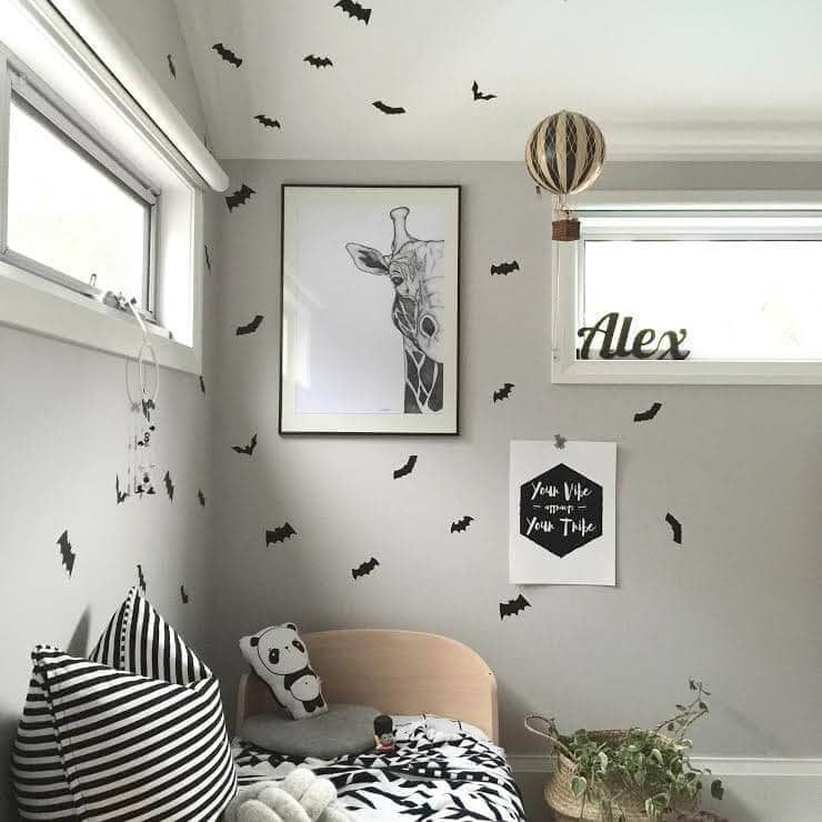 Bay wall decals - Boys bedroom makeover