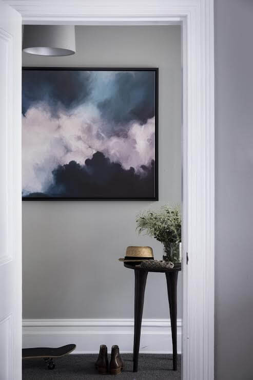 Charcoal Grey Walls - Entryway Ideas from Shaynna Blaze and Urban Road
