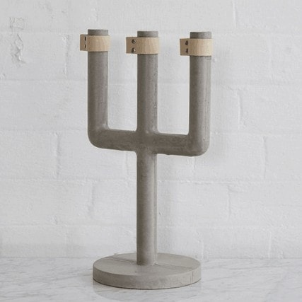 Concrete Candelabra from Urban Couture