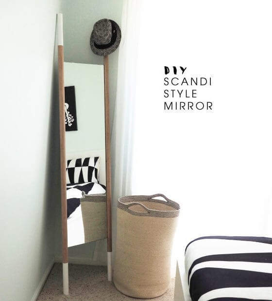 DIY Scandi mirror - scandinavian design ideas - The Life Creative