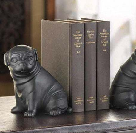 Father's Day Gift Ideas - Pug dog book ends from Yellow Octopus