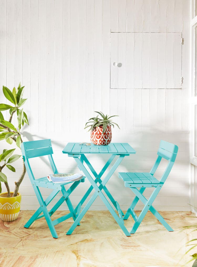 Gelato Outdoor Dining Table in Turquoise from Freedom Furniture