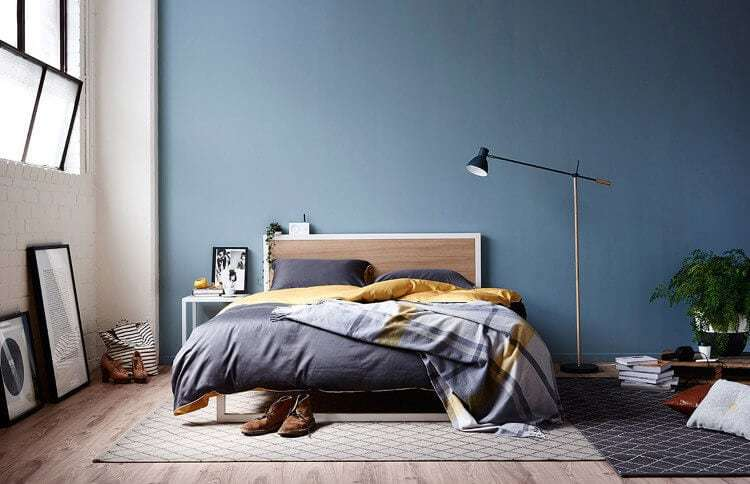 Hunting for George Bedding - Dark Blue Bedroom Walls