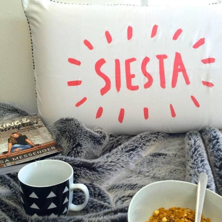 Memory Foam Pillows by Ergoflex and Siesta Pillow case by Ourlieu