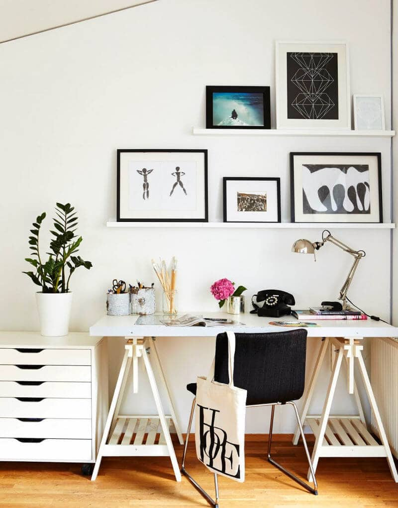Office Styling - Picture Rails in Office