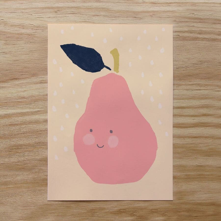 Pear Print by Minty Prints