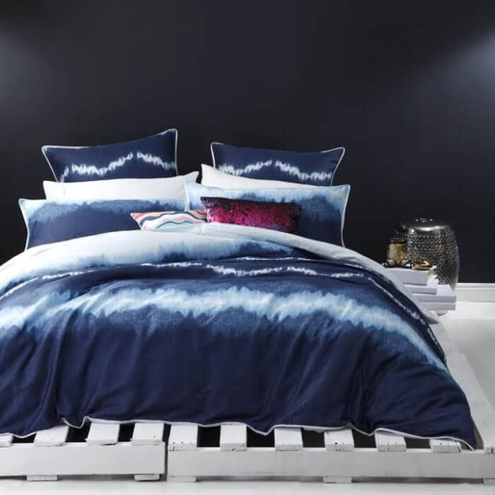 Shibori Bedding - Blue Ombre Bedding from Logan and Mason - The Life Creative