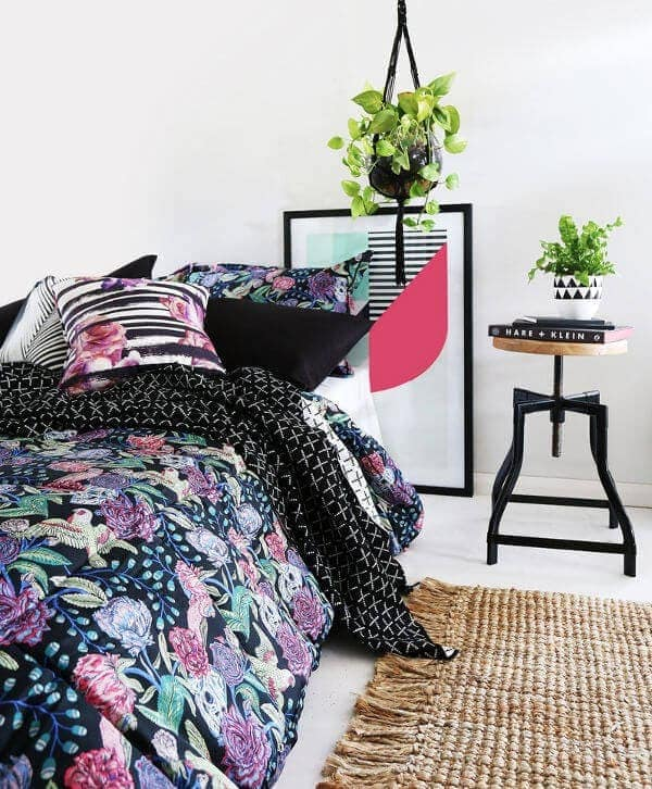 Black Skulls and Roses Bedding from Sanctuary Boutique Bedding on TLC Interiors