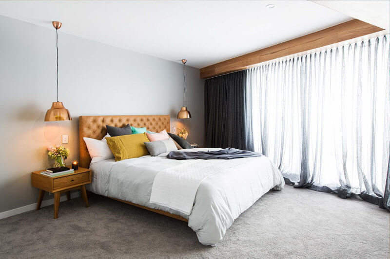 Blocktagon Master Bedroom Reveals Dean and Shay Leather Bedhead
