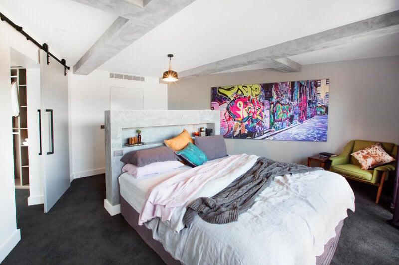 Blocktagon Master Bedroom Reveals Kingi and Caro Graffiti Art Bedroom