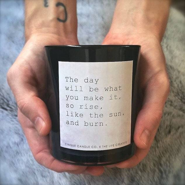 Cinque Candle Co. Rise like the Sun Candle The Life Creative Shop