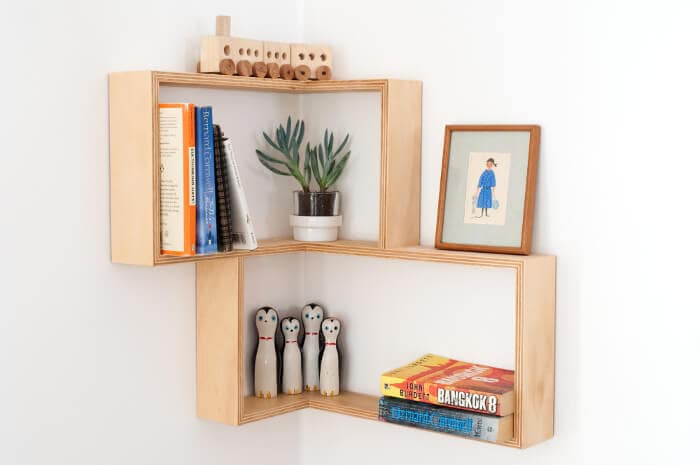 Corner Shelving Unit from Senkki Furniture