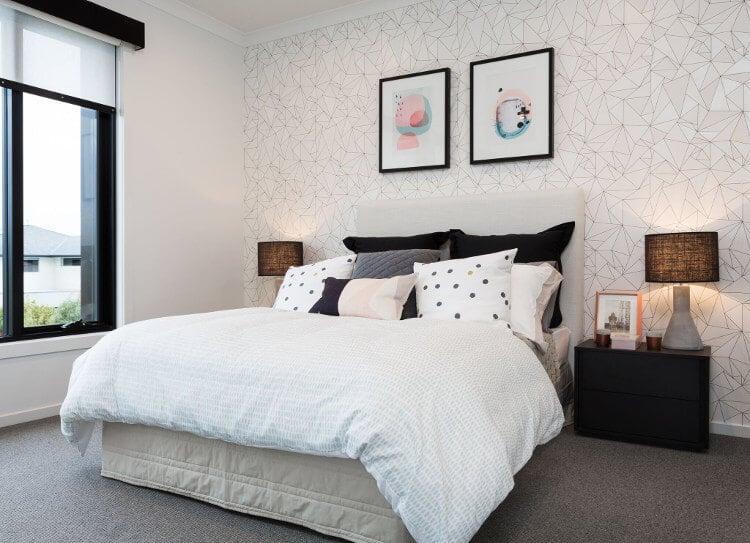 Feature Wall Ideas on TLC Interiors - Geometric Wallpaper Design