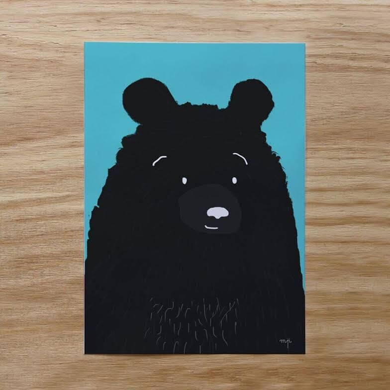 Grizzly Bear Print by Minty Prints The Life Creative Shop