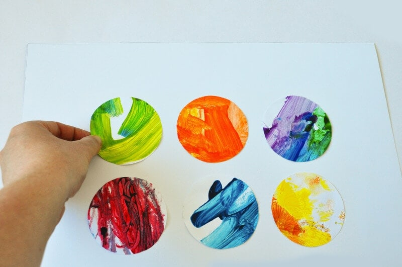 How to make an artwork from your kids finger paintings