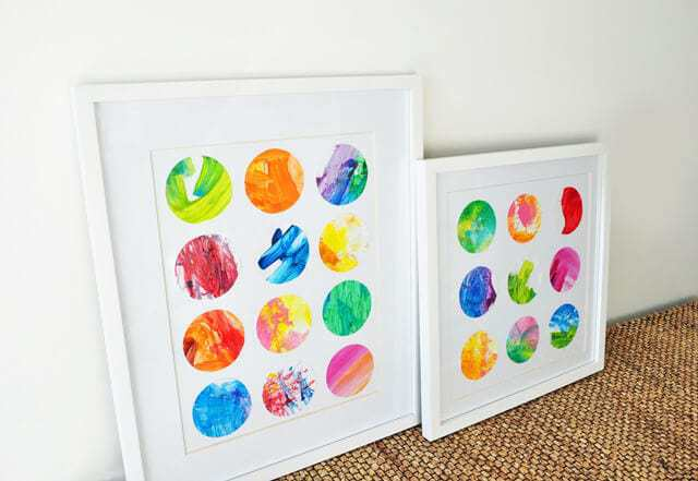 How to make art from your kids finger painging tutorial finished product
