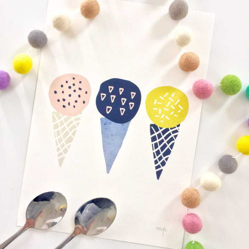 Minty Prints We All Scream Print The Life Creative Shop