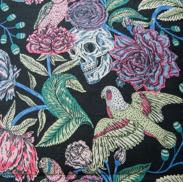 Sanctuary Boutique Linens Black Skulls and Roses The Life Creative Blog