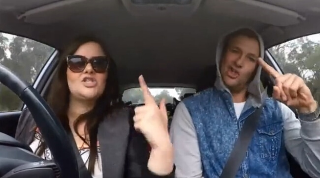 The Blocktagon - Luke and Ebony rap in the car cam
