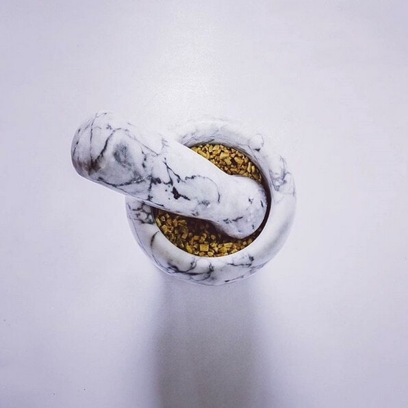 Allegra Stone Marble Mortat and Pestle on The Life Creative