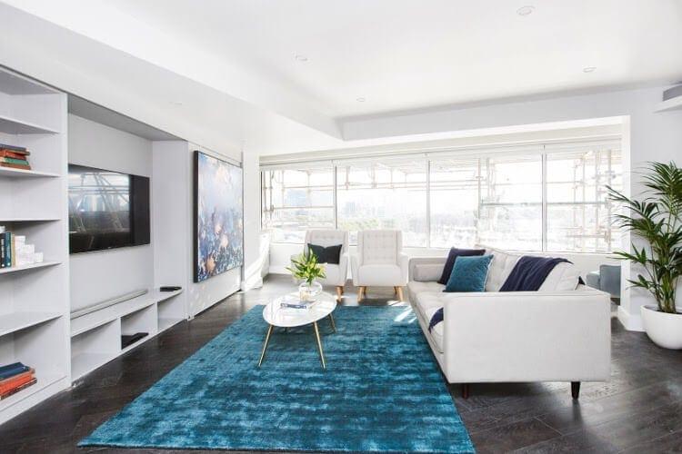 Blocktagon Living Room Reveals Luke and Ebony Living Room