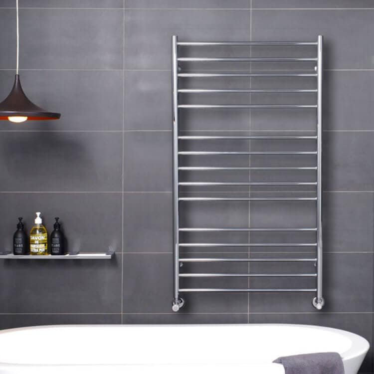 Bosch Hydronic Heating Heated Towel Racks in Bathroom