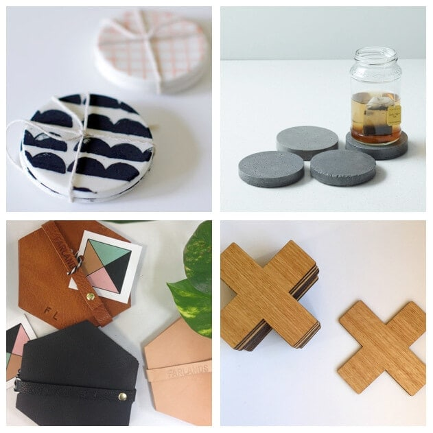 Coasters from Etsy and Down That Little Lane