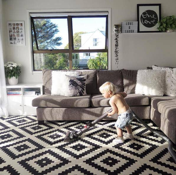 Ikea Lappland Juta Rug in Living Scandi Living Room