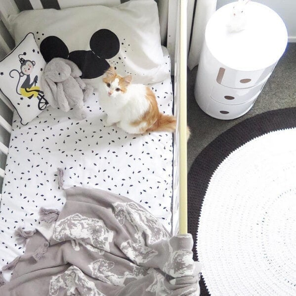 Nursery ideas Mickey Mouse pillow case for kids