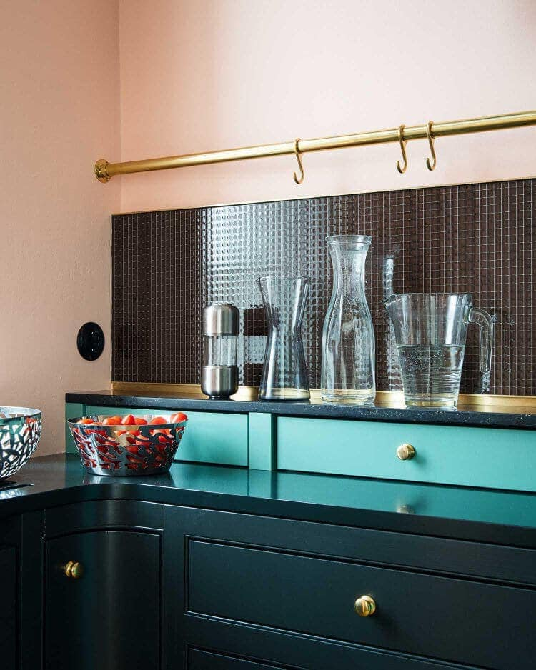 Pink Kitchen Wall with Green and Teal The Life Creative Blog