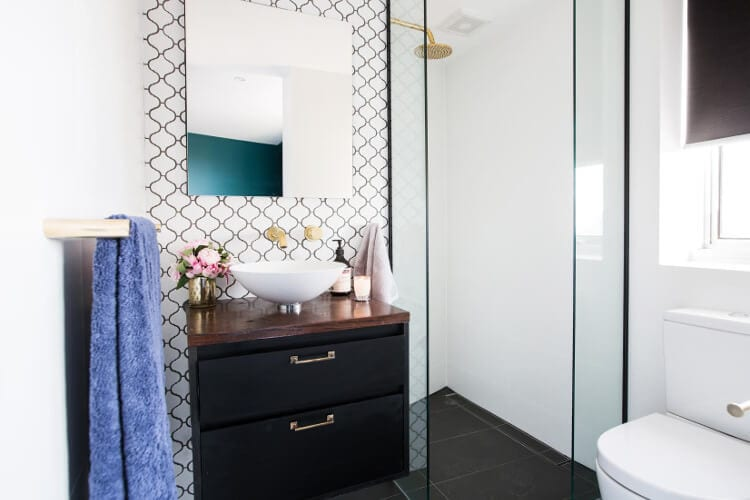 The Blocktagon Bedroom and Ensuite Reveals Luke and Ebony Ensuite
