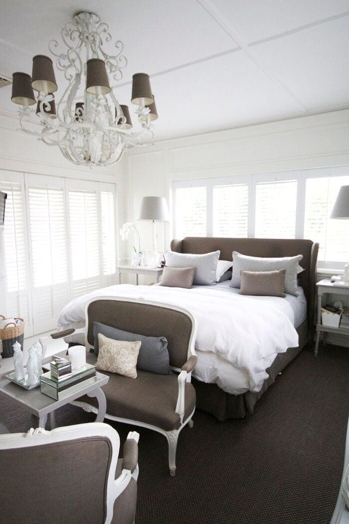 Bedroom of Chyka Keebaugh from The Real Housewives of Melbourne