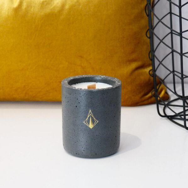 Concrete Candle by Tanda in TLC Interiors Shop