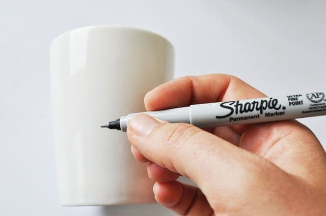 DIY Sharpie Mug Tutorial Step 2