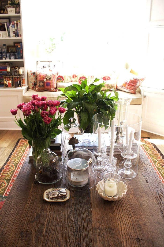 Flower Arranging in home of Chyka Keebaugh from Real Housewives of Melbourne