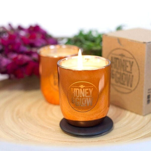 Honey and Glow Beeswax Candles
