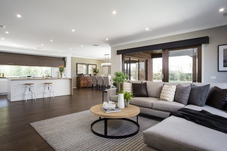 Neutral Living Room Design Ideas from Metricon on The Life Creative