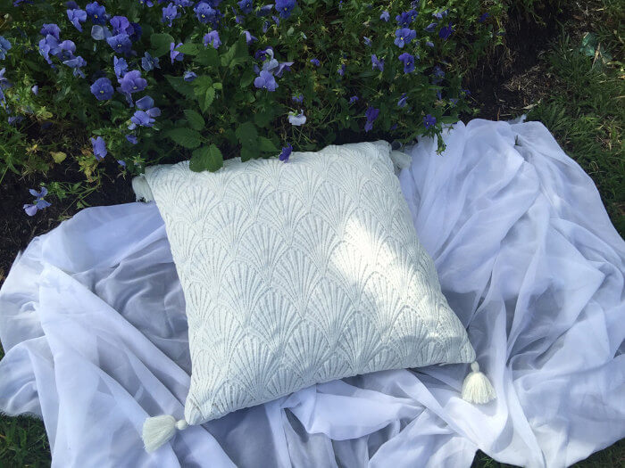 Palm Lace Tropical Cushion by Tropical Grace on The Life Creative Blog